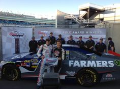 Kasey Kahne and the No. 5 Farmers Insurance team celebrate winning the pole at Las Vegas Motor Speedway on March 9.