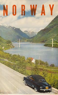 "Beautiful overprinting on ""Norway."" Day dreaming of Scandinavia..."