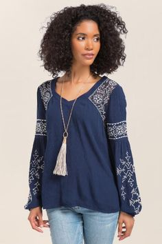 Aeryn Embroidered Top