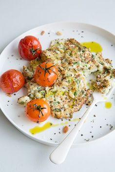 Cauliflower and Parmesan Fritters via Sweet Paul Magazine #vegetarian #cauliflower