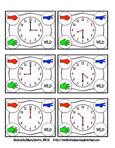 Rock, Paper, Scissors: Telling TIme {Hour and Half Hour}- aligned with CCSS 1st grade  Great partner game for math stations or math tubs!