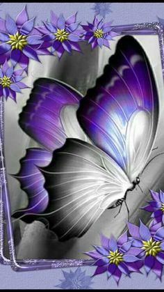Hotsale Diamond Painting Kit - DIY Custom Kits 301 – Vanilla and Cinnamon Butterfly Kisses, Purple Butterfly, Butterfly Flowers, Beautiful Butterflies, Beautiful Butterfly Pictures, Butterfly Painting, Butterfly Wallpaper, Butterfly Drawing, Purple Love