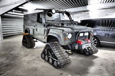 1997 Tracked Land Rover Defender.