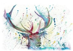 """""""Proud"""" stag print silk finish, canvas or Giclee"""