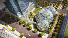 "<a href=""http://www.amazon.com"" target=""_blank"">Amazon</a> is currently constructing three glass 'spheres', which will contain treehouse meeting areas and around 3,000 species of plants. The design is by innovative design practice <a href=""http://www.nbbj.com/"" target=""_blank"">NBBJ</a>. This will serve as the centerpiece for its new headquarters, set to open in 2018."