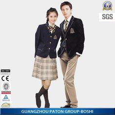 Elegantes uniformes de la escuela secundaria, estudiante uniformes diseño, guangzhou uniforme escolar fabrica, x093