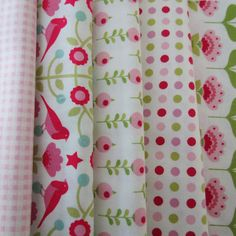 Pretty Tilda Fabric Bundle  White Pink and by PrettyFabricandTrims, $18.75