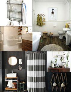 Hot vintage/industrial bathroom mood board. Via @apartmenttherapy