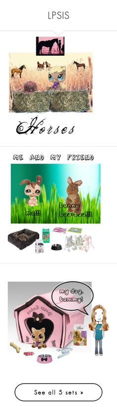 """""""LPSIS"""" by jesskat ❤ liked on Polyvore featuring art, bunnies, dogs, ducky and snow"""