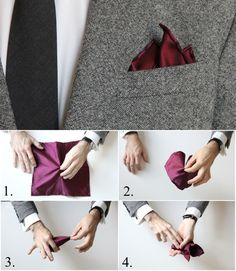 How To Fold a Pocket Square: The Crown Fold