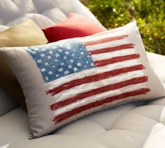 Painted Flag Outdoor Lumbar Pillow - no longer available from Pottery Barn