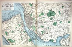 Liverpool map 1883 Liverpool Map, Liverpool History, Liverpool Home, Little Island, Old Maps, Vintage Maps, Old Pictures, Monuments, Family History
