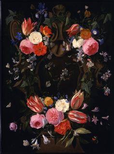 Jan van Kessel  A garland of flowers