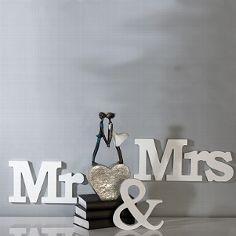 """Holzschriftzug """"Mr & Mrs"""""""