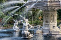 Forsyth Fountain in Savannah Georgia
