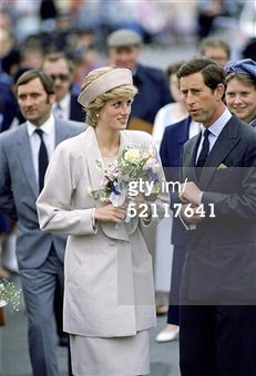 SHETLAND ISLES, SCOTLAND - JULY 24: Princess Diana And Prince Charles On A Walkabout During A An Official Visit To The Shetland Isles. (Photo by Tim Graham/Getty Images)