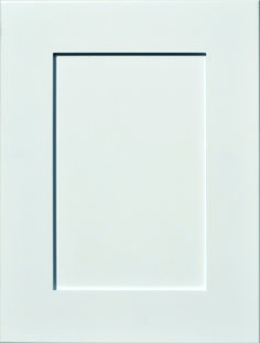 """Milan Raised Panel Door  Available Material: MDF Color Shown: Glacier Paint Available in All Outside Profiles - Shown with 18"""" Roundover Outside Profile Raised Panel Doors, Face Framing, Custom Cabinetry, Cabinet Doors, Color Show, Milan, Profile, Paint, Frame"""