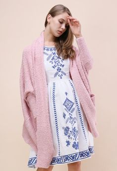 Follow My Heart Longline Cardigan in Pink - New Arrivals - Retro 6e951cb58