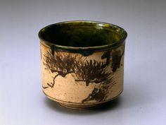 Ogata Kenzan (Japanese: 1663~1743) - RAKU Tea bowl with a Pine Tree design in iron paint - Edo Period