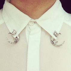 collar shirt detail pin