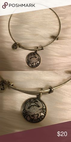 """WEEKEND ONLY! Alex & Ani Bangle Alex and ani """"cancer"""" bangle. Worn only a few times. Looks great. Only listing to see if it sells. If not, I'll keep! I'm moving this Monday and need to declutter my closet... Everything that is not sold by Monday will be donated or given away. My prices are already super cheap on everything I'm posting so no LOWBALLING. Alex & Ani Jewelry Bracelets"""