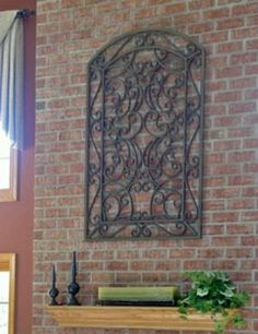 Large Wrought Iron Wall Decor-You Pick Color(s)/ Metal Wall Decor ...