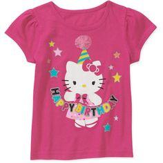Hello Kitty Birthday Baby Toddler Graphic Tee