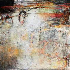 """Sotto la superficie""  Oil/Mixed media  12x12 Lisa B. Boardwine"