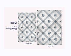 Liten Norsk Stjerne 15x15 eller 20x20 Tiled Hallway, Floors, Bathroom, Kitchen, Home Decor, Home Tiles, Washroom, Flats, Cooking