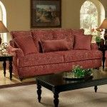 $939.00  Chelsea Home Furniture - Milo Wine Sofa - 6701-S