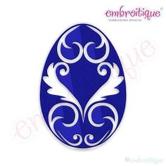 Fancy Easter Egg 21 - 7 Sizes! | What's New | Machine Embroidery Designs | SWAKembroidery.com Embroitique