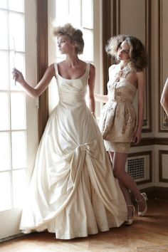 BHLDN 19944834 Wedding Dress $1200.00 on Hustle Your Bustle // mmm, that neckline is fantastic.