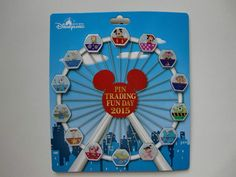 Disney pin - HKDL Fun Day 2015 - Hidden Mickey Magical Ferris wheel Complete Set
