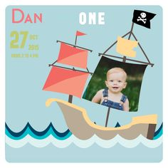 Pirate Ship Birthday First Birthday Invitations by Basic Invite First Birthday Invitations, Boy First Birthday, Cool Baby Stuff, Big Day, I Card, Little Ones, First Birthdays, Pirates, Birthday Parties