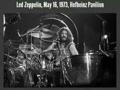John Bonham of Led Zeppelin in Hofheinz Pavilion, Houston, Texas. May 16, 1973.
