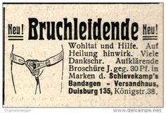 Original-Werbung/ Anzeige 1914 - BRUCHLEIDENDE / SCHIEVEKAMP'S BANDAGEN VERSANDHAUS - ca. 45 x 30 mm