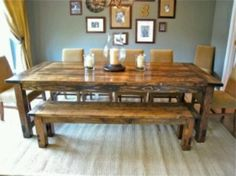 How To Make A Farm House Dining Table! Melindaspriggs How To Make A Farm  House Dining Table! How To Make A Farm House Dining Table!