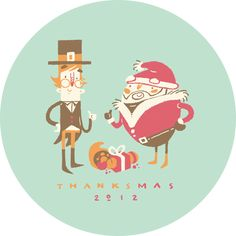 Thanksmas 2012 Design by Erin Barker, via Behance