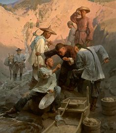 The Gold Nugget, Chinese Camp, 1850 By Mian Situ