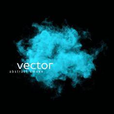 Vector illustration of blue smoke vector art illustration