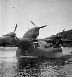"The Blohm & Voss BV 138 Seedrache (Sea Dragon, but nicknamed Der Fliegende Holzschuh (""flying clog"",[1] from the side-view shape of its fuselage) was a World War II German flying boat that functioned as the Luftwaffe's main long-range maritime reconnaissance aircraf"
