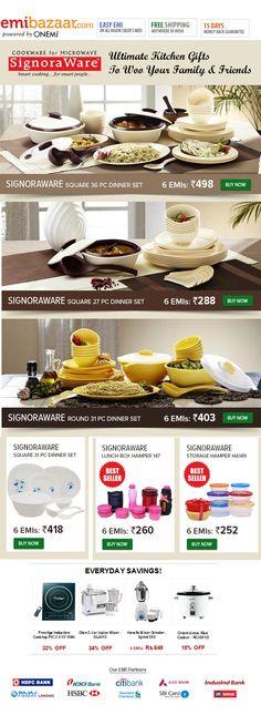 Smart Signoraware Collection at Pocket-friendly EMI Prices! Emibazaar.com