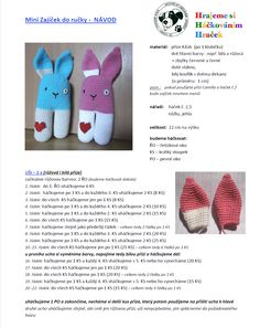Zajic | Návody na háčkované hračky Crochet For Kids, Crochet Dolls, Diy And Crafts, Knitting, Toys, Children, Amigurumi, Dark Eye Circles, Activity Toys