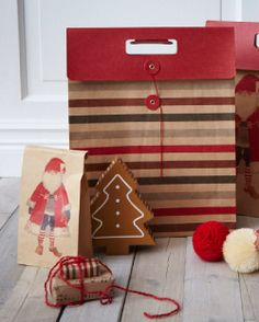 """If I run out of time to make my own I can go buy """"home made"""" gift bags and cristmas decorations at IKEA....!"""