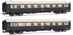 "Rivarossi 4145 - CIWL Set x 2 restaurant coaches""Venice-Simplon-Orient-Express"" Simplon Orient Express, Train Journey, Restaurant, Train Layouts, Work Travel, Trains, Coaches, Venice, Model Trains"