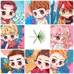 Hình ảnh có liên quan Kpop Exo, Exo Kokobop, Exo Cartoon, Chibi, Exo Anime, Chanyeol Baekhyun, Park Chanyeol, Exo Couple, Ko Ko Bop