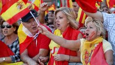 Tens of thousands rally in Barcelona for Spanish unity