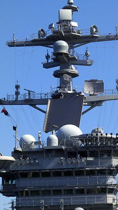 """VINSON by Eric Neitzel  The """"Tower"""" on the US Navy's Aircraft Carrier USS Carl Vinson"""