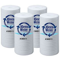 Free Shipping - Four dirt sediment filters by KleenWater compatible with 3M Aqua-Pure AP811 * A high quality, low cost alternative to the more expensive OEM cartridges * 20 micron gradient density * Melt blown polypropylene construction * (Placed within the Amazon Associates program) * 11:32 Mar 16 2017