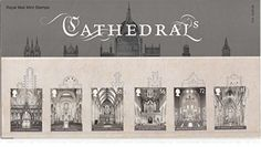 Celebrating six of the mos awe-inspiring cathedral in Britain, this Royal Mail Stamp Presentation Pack features plan drawings and some details of their history, alongside photographs of the beautiful interiors.